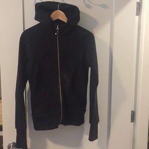 black lululemon track jacket